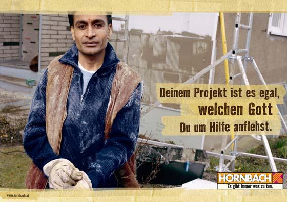 Hornbach Plakat gegen Ausländerfeindlichkeit