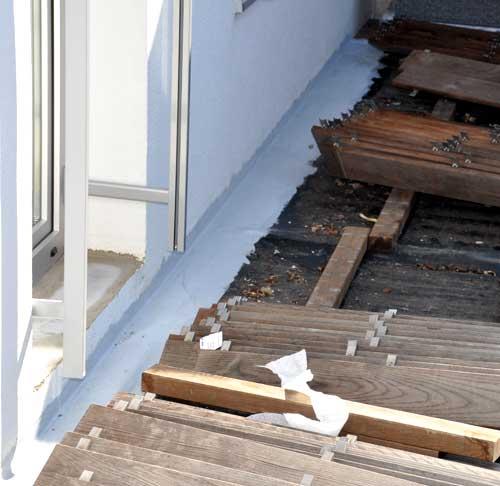 Terrasse Sanieren Und Abdichten Simple Abdichtung Beschichten