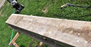 alte Baustellenplanken