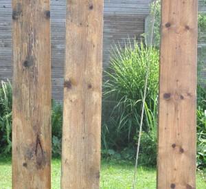 geputze Holzplanken