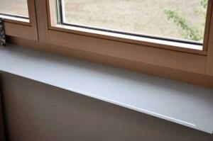 Fensterbrett aus Glas