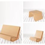Pappmöbel, Pappsessel, Papptisch