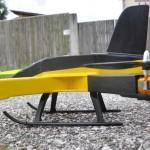 Seitenansicht des Quadrocopters