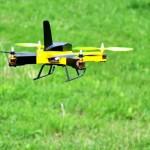 Quadrocopter selbst gebaut im Flug